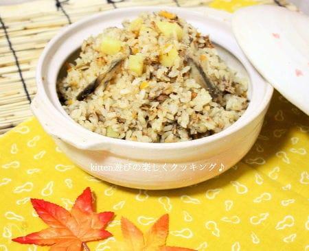 鯖の味噌煮缶de五目炊込みご飯