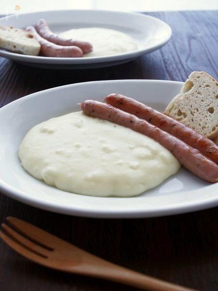 とろ~りのびる!チーズ入りマッシュポテト、アリゴ