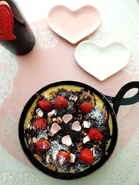 バレンタインにチョコレートピッツァ