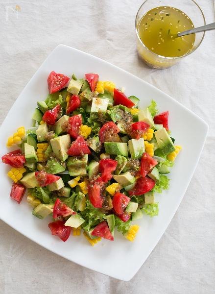 さっぱり!夏野菜のイタリアンサラダ