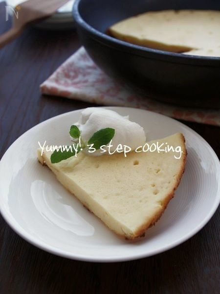 フライパン焼きベイクドチーズケーキ