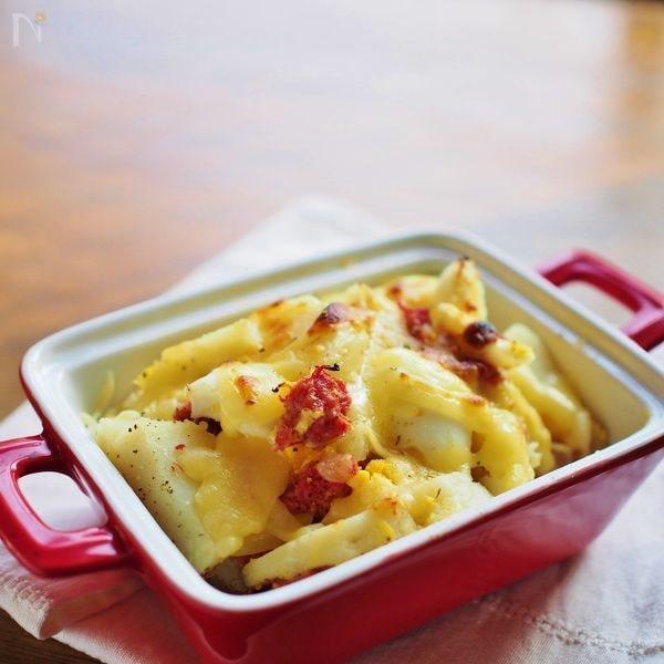 ポテトとコンビーフのチーズ焼き