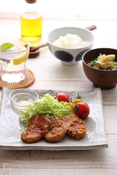 ヒレ肉の生姜焼き