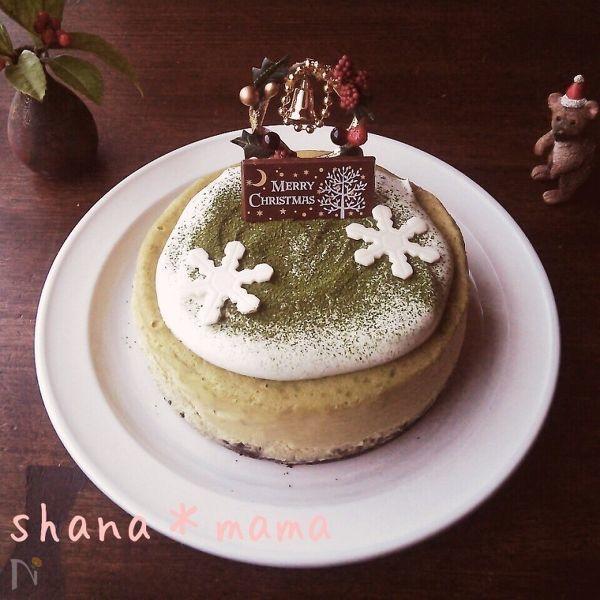 和風クリスマス!?濃厚リッチなNY濃抹茶チーズケーキ♪