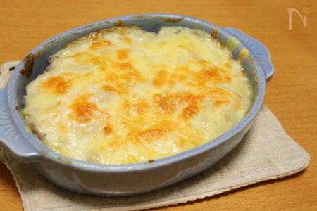 豆乳ホワイトソースのエビドリア