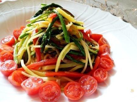 昆布風味のお野菜たっぷり和風パスタ