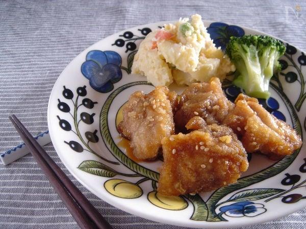 冷めても美味しい!鶏の甘辛から揚げ。