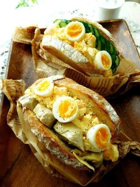 ボリュームたっぷりうちの卵サンド