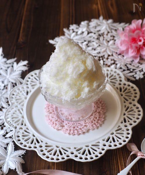牛乳氷で作る、ふわふわ台湾風かき氷