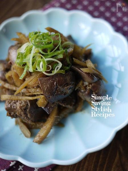 スタミナ補給!栄養たっぷり♪鶏レバーの生姜煮