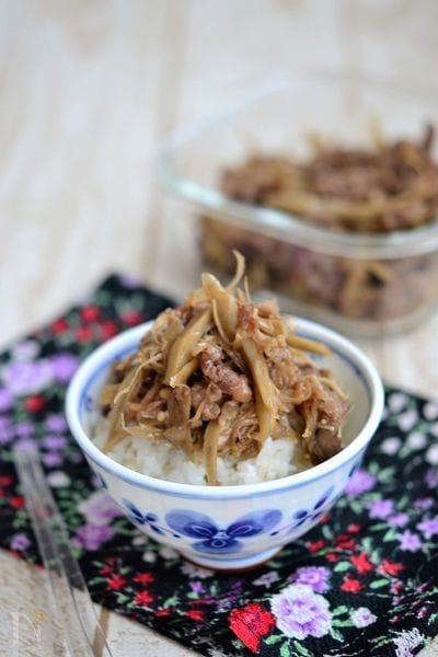 牛ごぼうとえのきの甘辛炒め【作りおき】