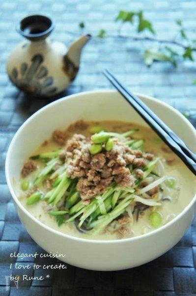 3. 枝豆と胡麻の中華味冷麺