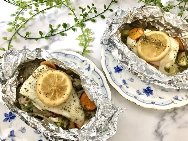 白身魚のレモン酢マリネホイル焼き