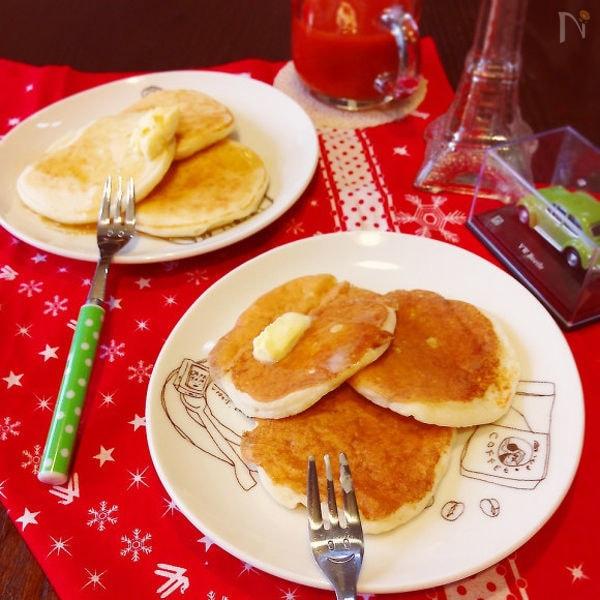 卵なし&油なしのパンケーキ