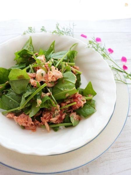 3. サラダほうれん草のトマトとツナのサラダ