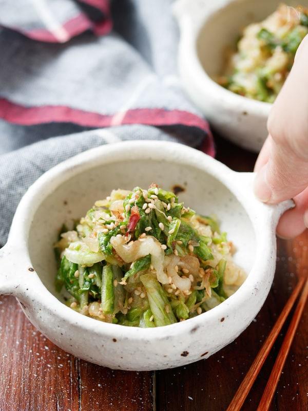 白菜の和風♡ごまおかかナムル【#包丁不要#ポリ袋#食材1つ】