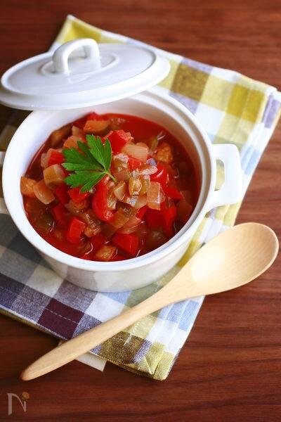 トマトジュースで作る簡単ラタトゥイユ