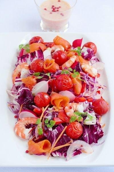 焼きトマトの赤いサラダ