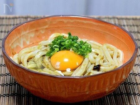 3. 味付け簡単!海苔の佃煮かま玉うどん