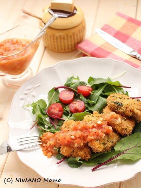 パルミジャーノ・レッジャーノのひとくちカツレツ トマトソース