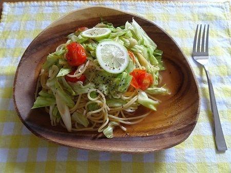 野菜たっぷり!めんつゆレモンパスタ