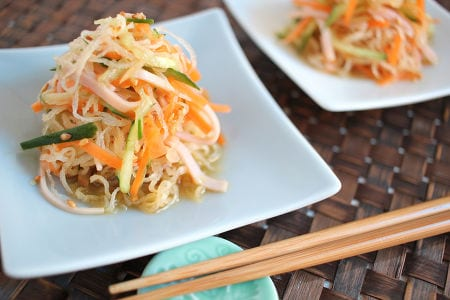 冷凍しらたきの中華風サラダ