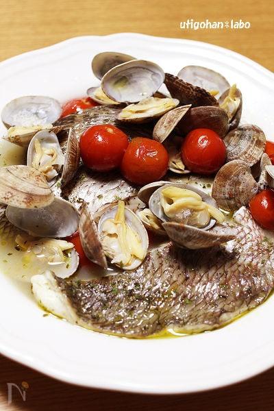 圧力鍋で5分!切り身の鯛でアクアパッツァ