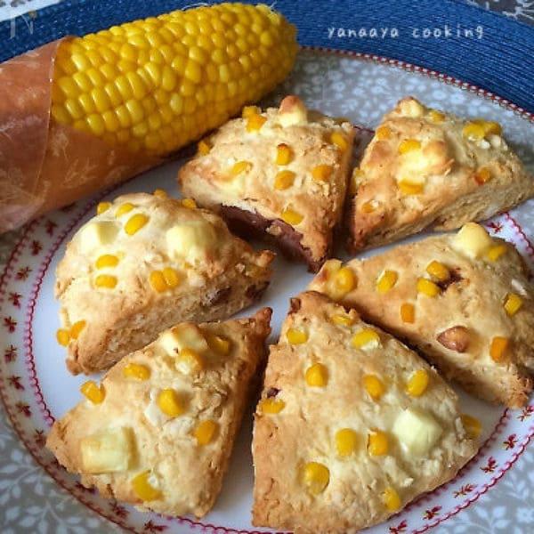 コーンとクリームチーズのスコーン