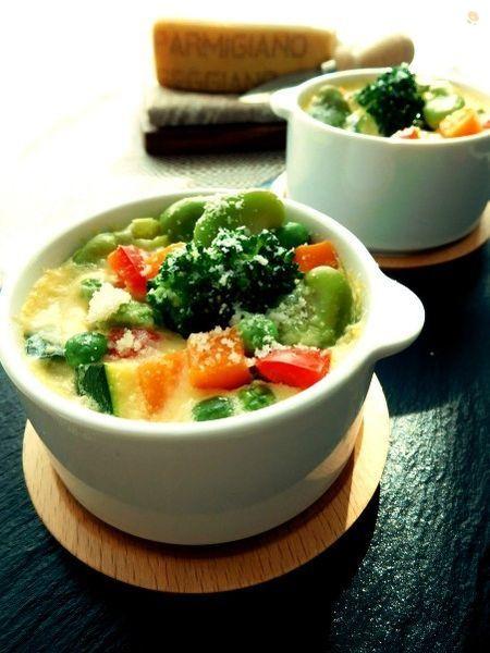 カラフル野菜たっぷりパルミジャーノフラン