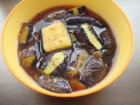 揚げ茄子の煮浸し