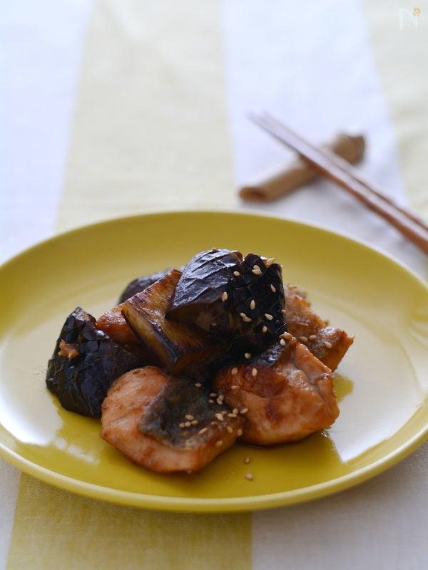 鮭となすのしょうが焼き