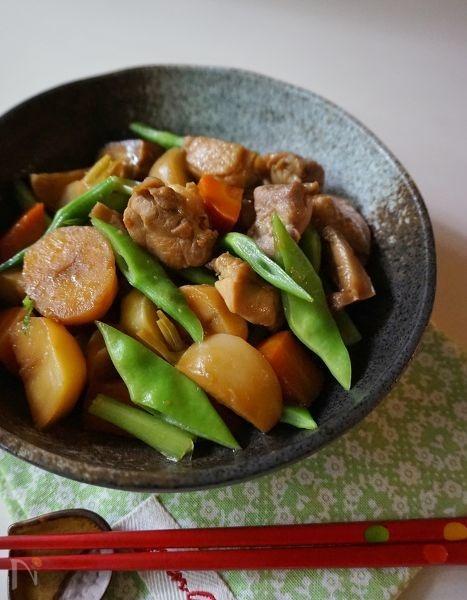 鶏肉と色々根菜の炒め煮