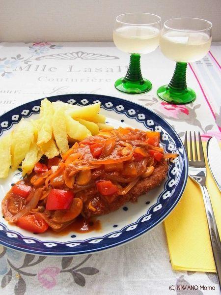 ドイツ料理 ツィゴイナーシュニッツェル(パプリカソース)