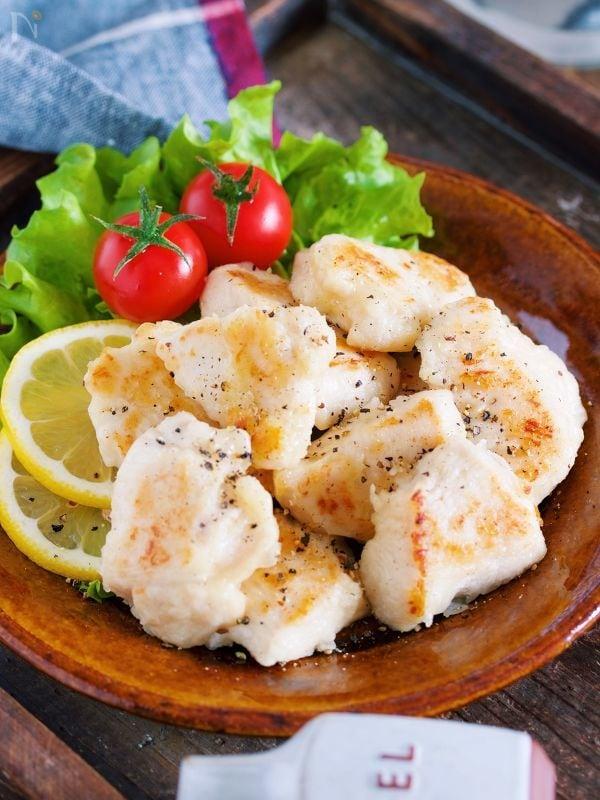 むね肉のガーリック塩焼き【#作り置き#お弁当#ノンオイル】