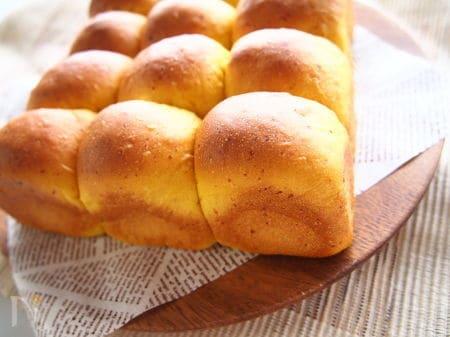 1.かぼちゃとチーズのちぎりパン
