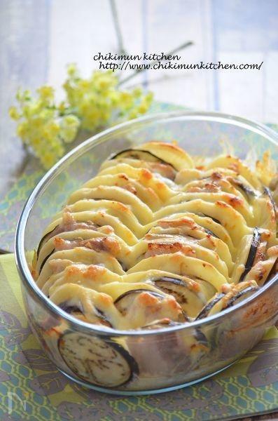 豚カルビとポテトの味噌クリームミルフィーユ