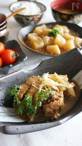 綺麗に盛られた鯖の味噌煮