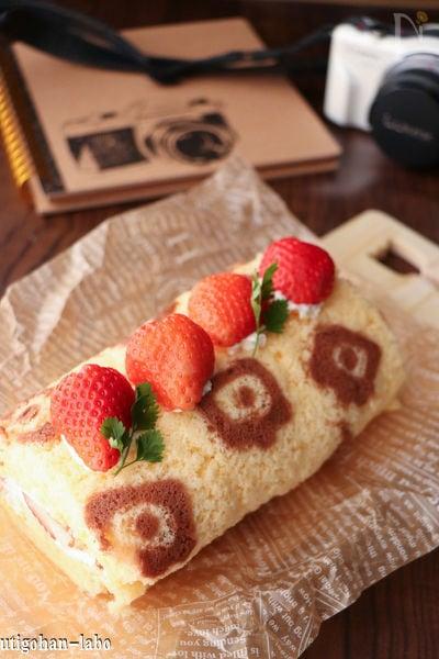 【ホットプレート】お絵かきロールケーキ