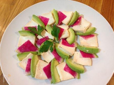豆腐チーズのカプレーゼ
