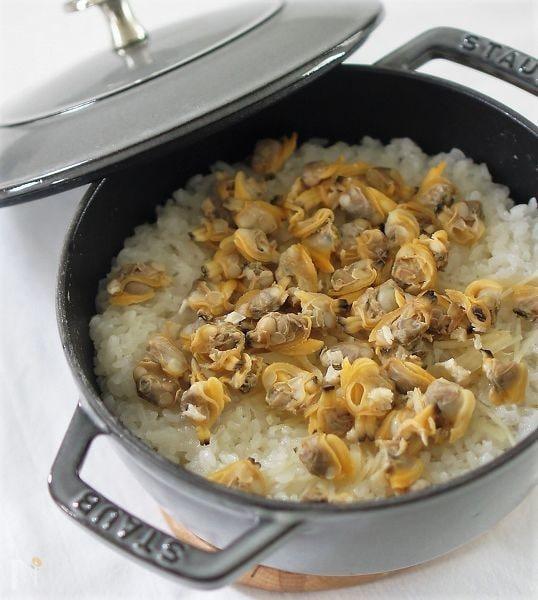 1. あさりと新生姜の炊き込みご飯