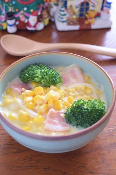 ダブルコーンの贅沢スープ