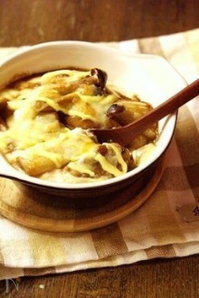豆腐ホワイトソースの照り焼きチキンドリア