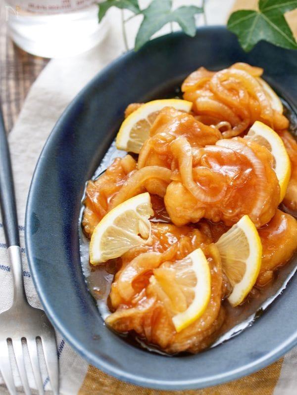 むね肉のレモン南蛮漬け【#作り置き #お弁当 #揚げない】