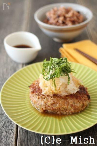 【酵素玄米】おろしポン酢の酵素玄米バーグ