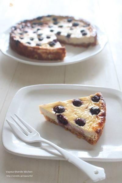 ブルーベリーのベイクドチーズケーキ風