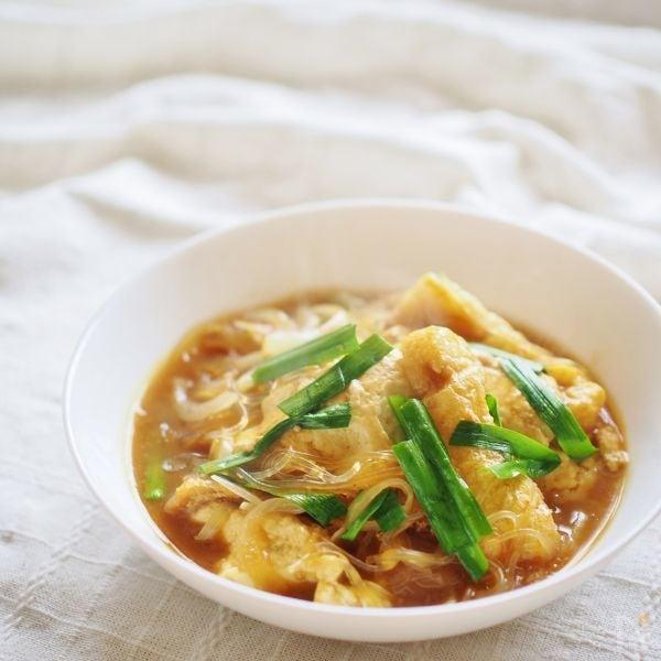 豆腐と春雨のヘルシースープ