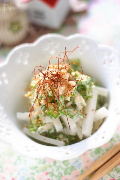 オクラと帆立のサラダ