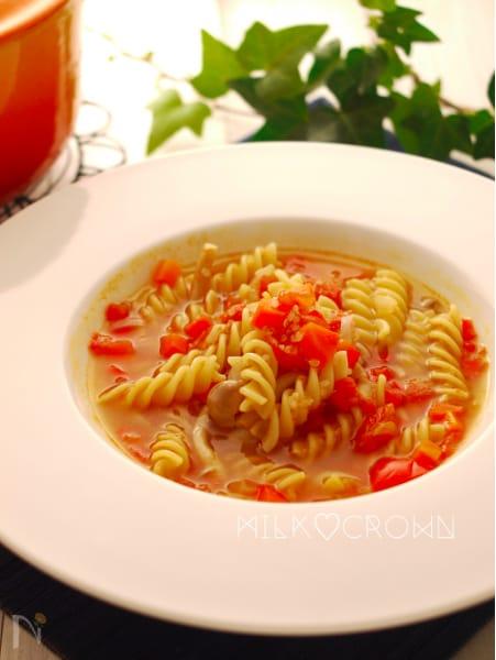 ミネストローネ風スープパスタ
