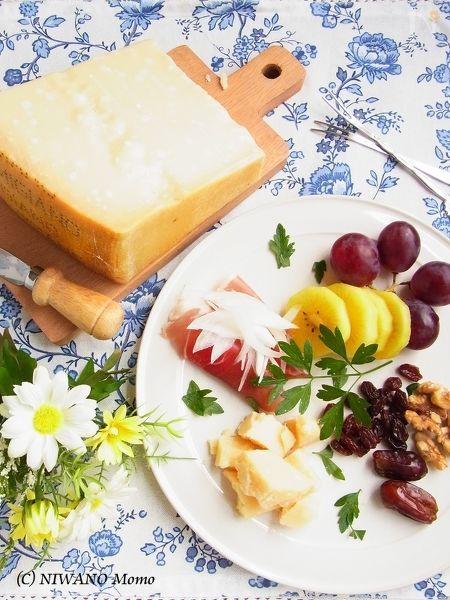 パルミジャーノ・レッジャーノの前菜チーズプレート