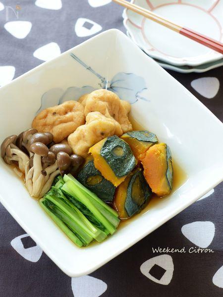 秋野菜とがんもどきの煮物